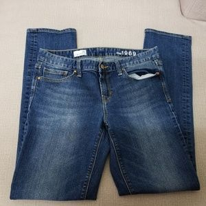 GAP 1969 REAL STRAIGHT JEANS SIZE 30R
